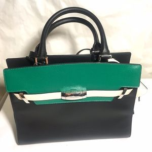 Calvin Klein Leather Hand Bag New With Tags